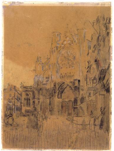 Dieppe, Study No. 2, Facade of Saint-Jacques Tower, 1899
