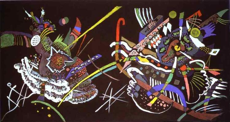 Draft for Mural In The Unjuried Art Show, Wall B, 1922 - Wassily Kandinsky