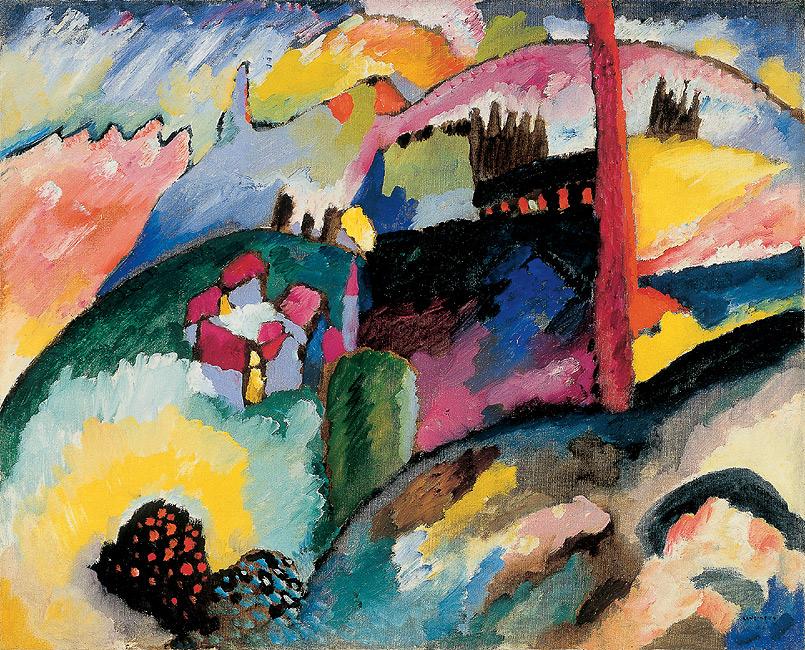 Landscape with factory chimney, 1910 - Wassily Kandinsky ...