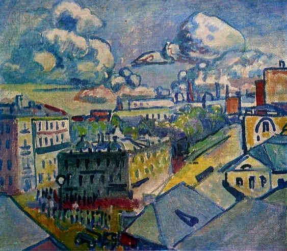 Moscow. Zubovskaya Square. Study., 1916 - Wassily Kandinsky