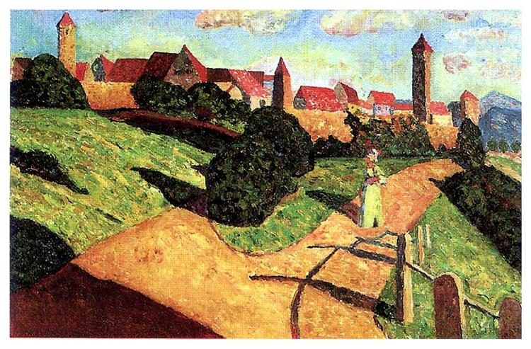 Old town II, 1902 - Wassily Kandinsky