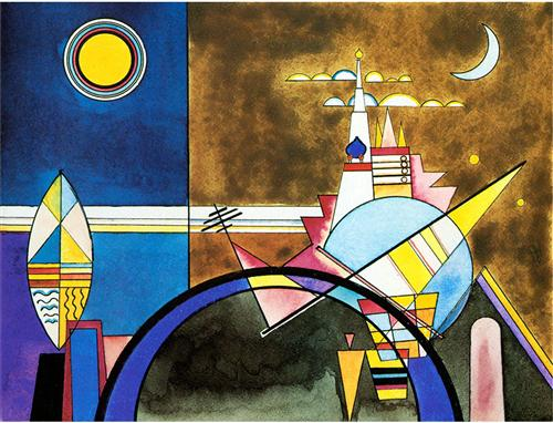 Picture XVI,  The Great Gate of Kiev. Stage set for Mussorgsky's Pictures at an Exhibition in Friedrich Theater, Dessau. -  Wassily Kandinsky