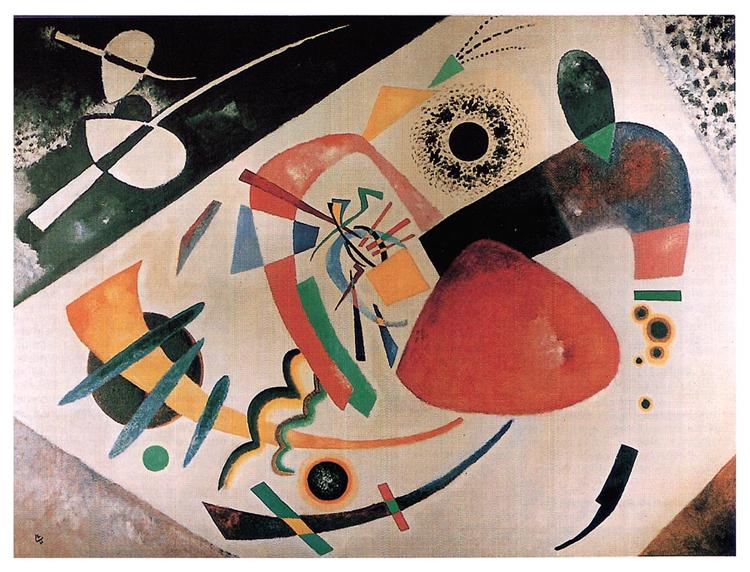 Red spot II, 1921 - Wassily Kandinsky