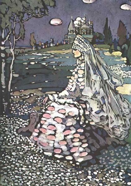Russian beauty in a landscape, 1905 - Wassily Kandinsky