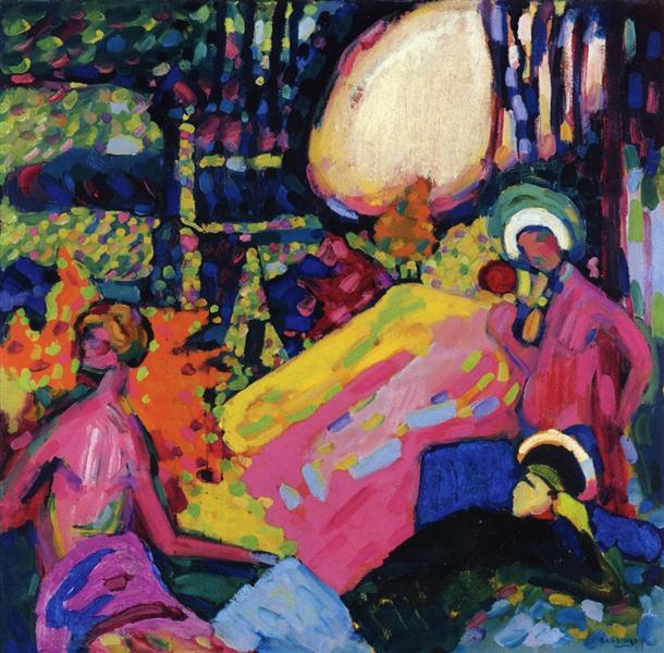 White sound, 1908 - Wassily Kandinsky