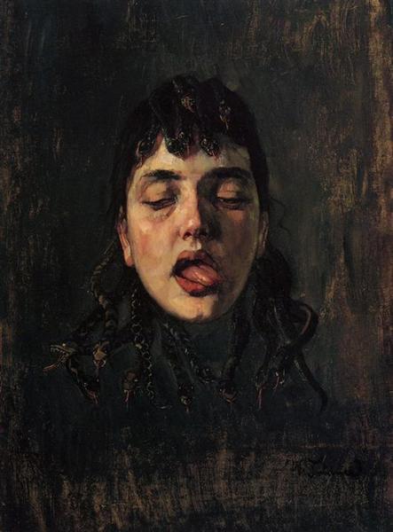 Gorgonenhaupt, 1891 - Wilhelm Trübner