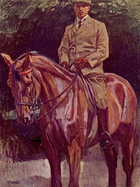 Reiterporträt - Wilhelm Trubner