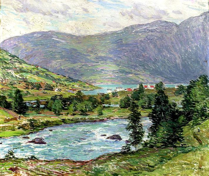 Mountain Lakes, Olden, Norwas, 1913 - Willard Metcalf