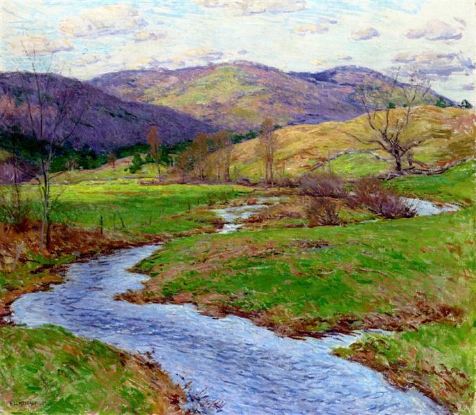 Swollen Brook (No. 2), 1923 - Willard Metcalf