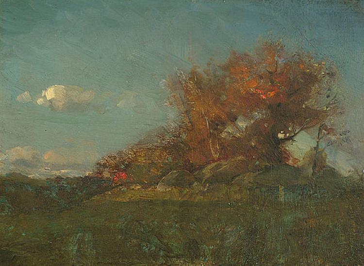 The Fire of Autumn, 1877 - Willard Metcalf