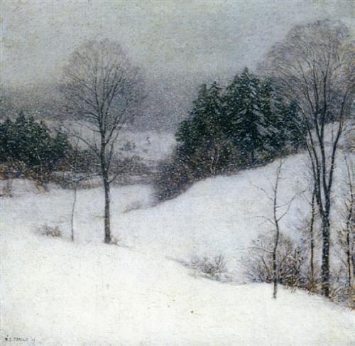 The White Veil - Willard Metcalf