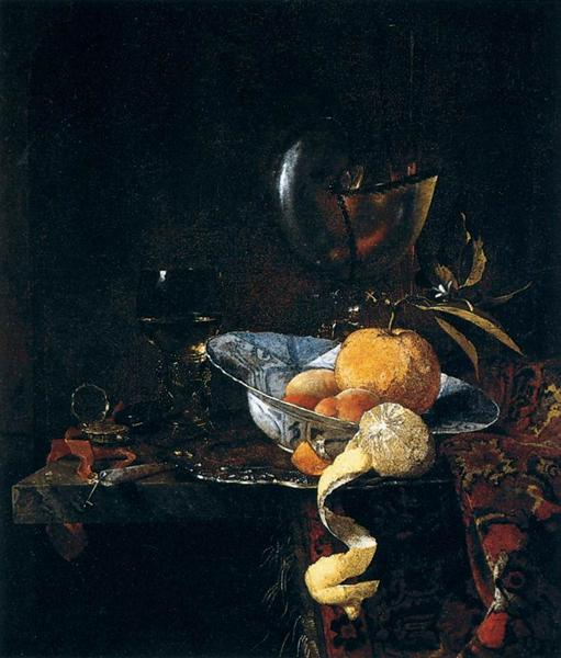 Still-Life with Porcelain and a Nautilus Cup - Willem Kalf