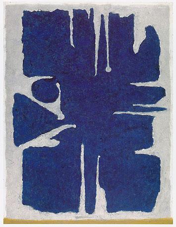 Aru Dark Blue, 1955 - Willi Baumeister