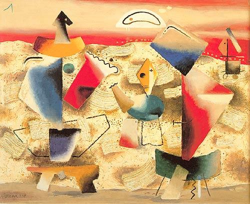 Red Landscape, 1948 - Willi Baumeister