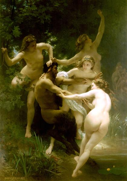 Ninfas y sátiro, c.1873 - William-Adolphe Bouguereau