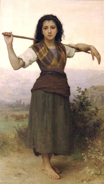 Shepherdess, 1889 - William-Adolphe Bouguereau