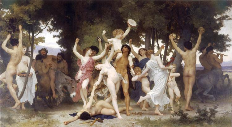 The Youth of Bacchus, 1884 - William-Adolphe Bouguereau