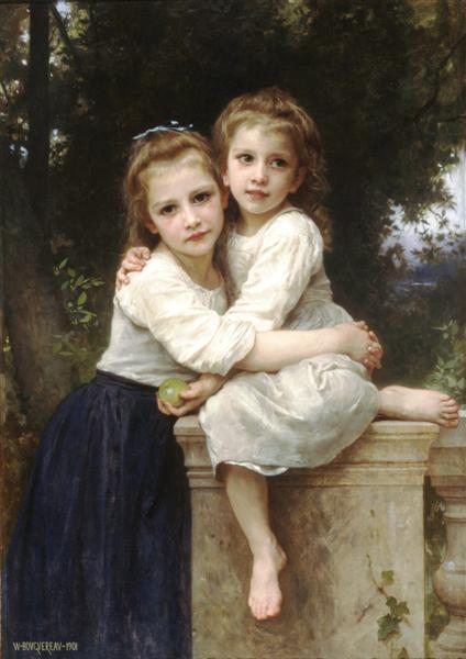 Two Sisters, 1901 - William Adolphe Bouguereau