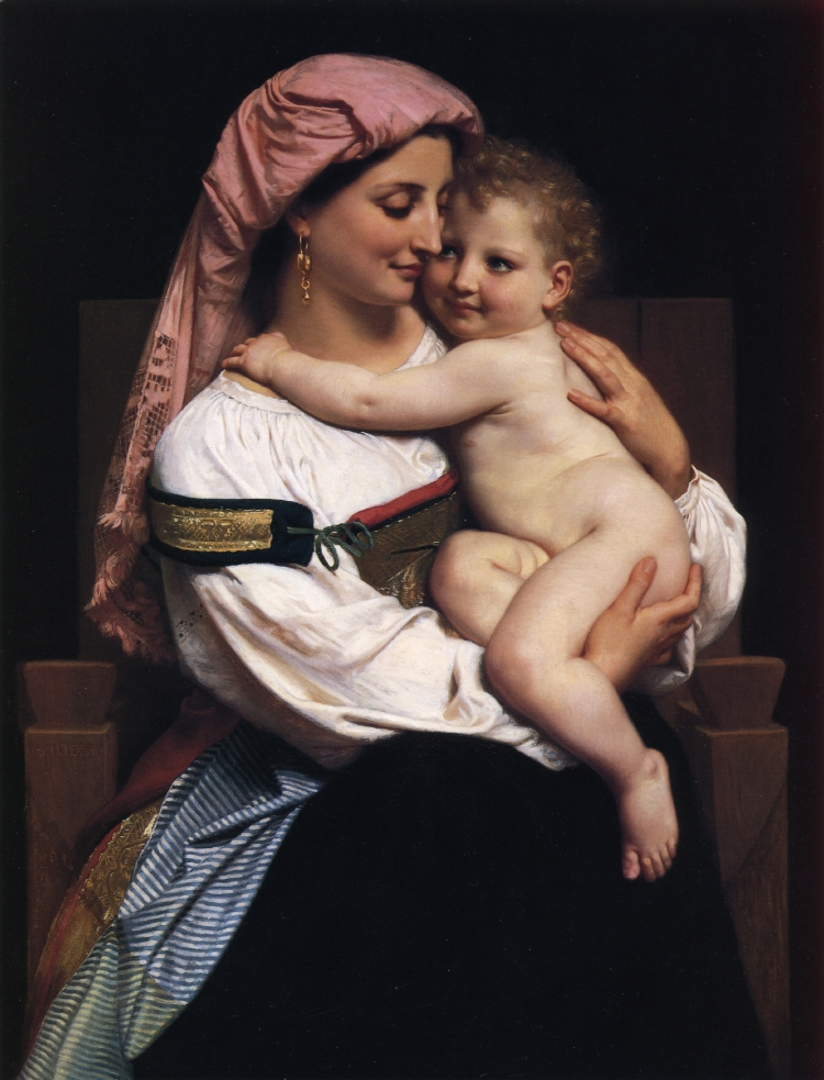 Woman of Cervara and Her Child, 1861