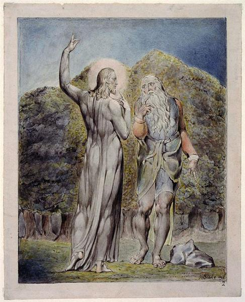 Christ Tempted by Satan to Turn the Stones to Bread, 1815 - 1819 - William Blake