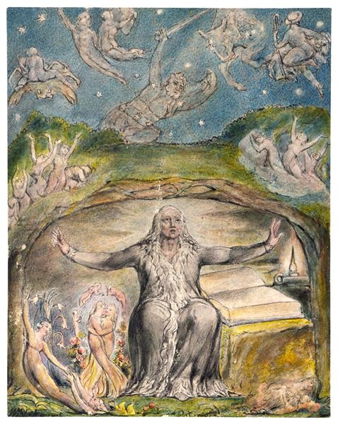 Illustration to Milton`s L`Allegro and Il Penseroso, 1816 - 1820 - William Blake