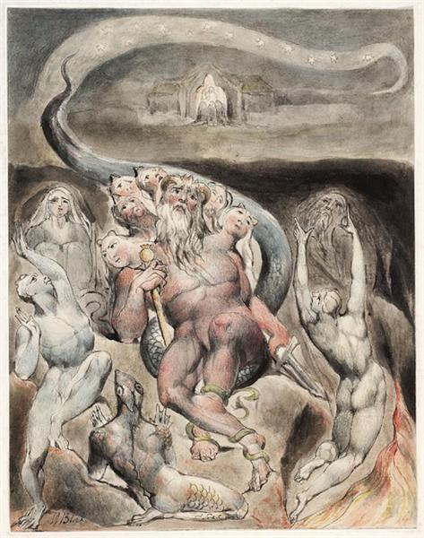 Illustration to Milton`s On the Morning of Christ`s Nativity, 1815 - William Blake