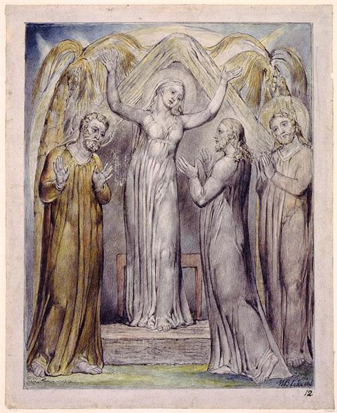 Illustration to Milton`s Paradise Regained, 1816 - 1820 - William Blake