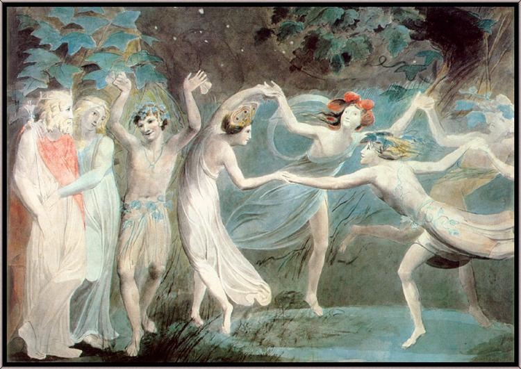 Oberon, Titania and Puck with Fairies Dancing - William Blake