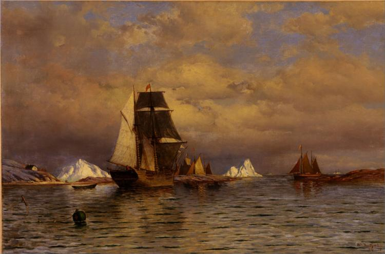 Looking Out Of Battle Harbor 1877 William Bradford