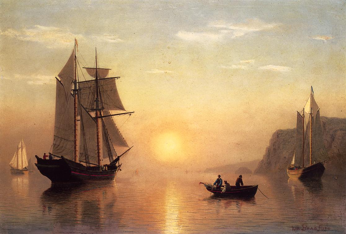 Sunset Calm in the Bay of Fundy - William Bradford ...