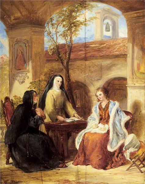 The World (The Cloister), 1844 - Уильям Коллинз
