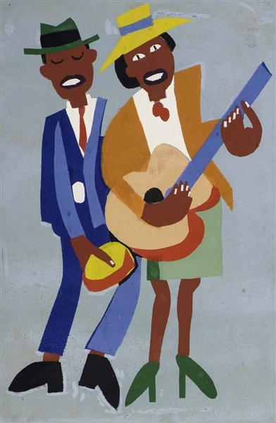 Blind Singer (Street Musicians), 1940 - William H. Johnson