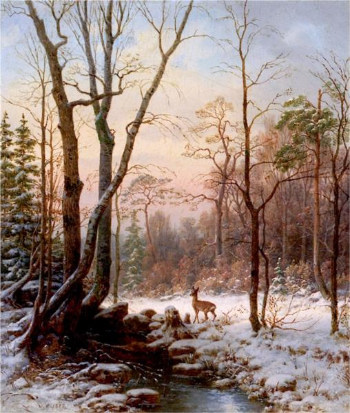 Winter's Morning, 1877 - William Hart