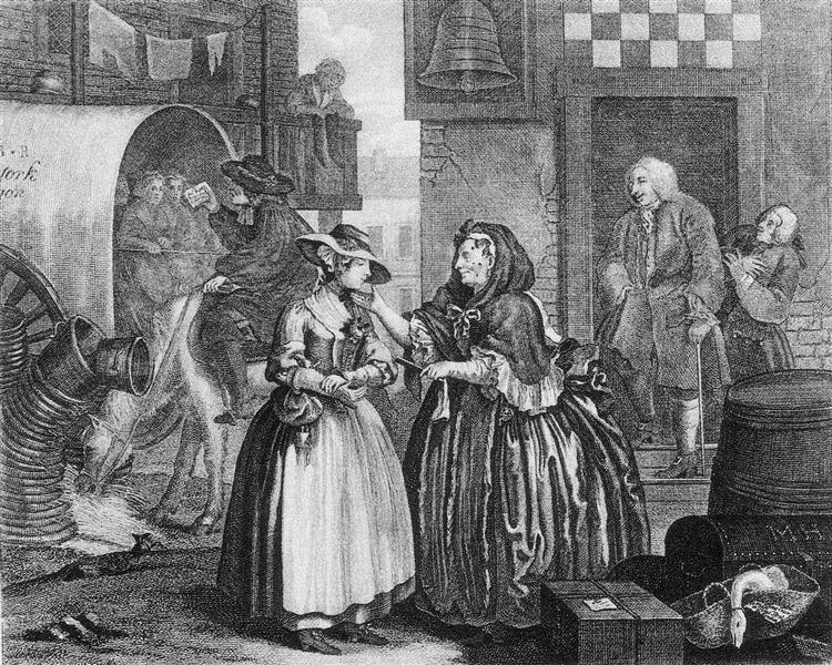 A Harlot's Progress, plate 1 - William Hogarth