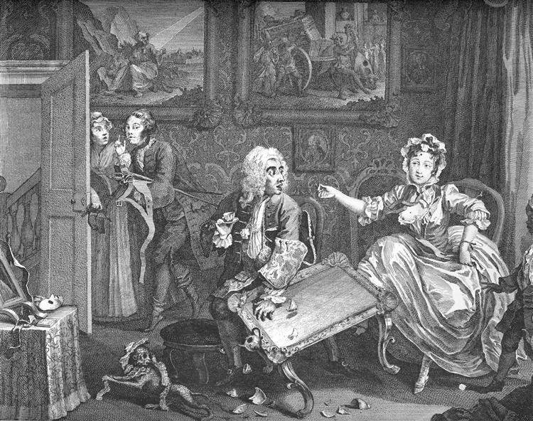 A Harlot's Progress, plate 2 - William Hogarth