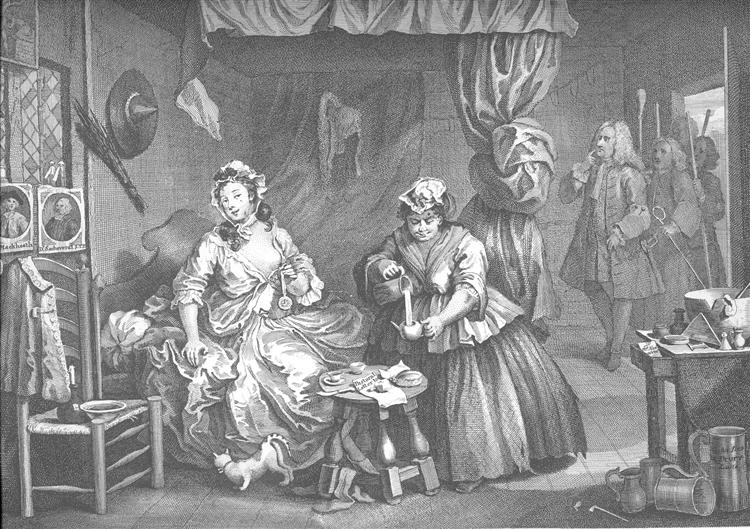 A Harlot's Progress, plate 3 - William Hogarth