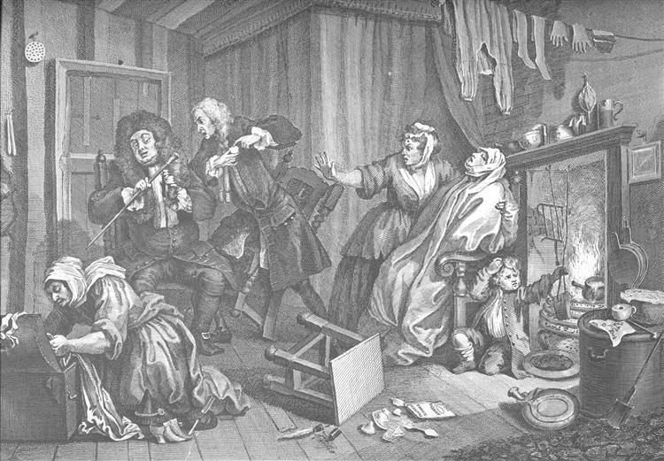 A Harlot's Progress, plate 5 - William Hogarth