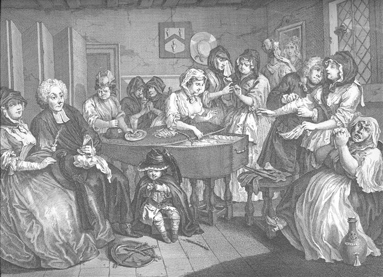 A Harlot's Progress, plate 6 - William Hogarth