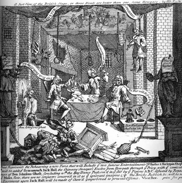 A Just View of the English Stage, 1724 - William Hogarth