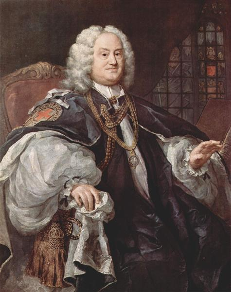 Portrait of Bischofs Benjamin Hoadly, c.1743 - William Hogarth