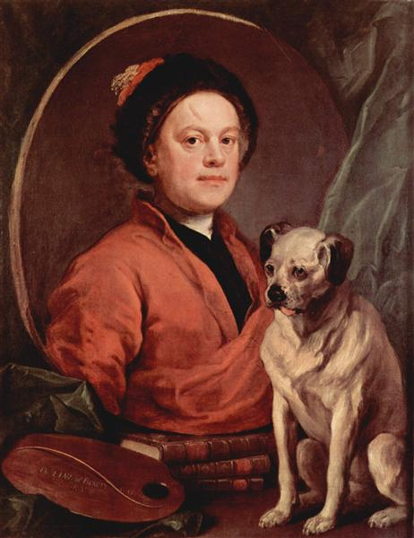 Self portrait, 1745 - William Hogarth