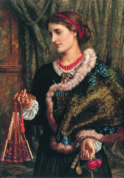 The Birthday (A Portrait Of The Artist's Wife, Edith), 1868 - William Holman Hunt