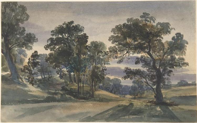 A Parkland View at Dusk, 1879 - William Leighton Leitch