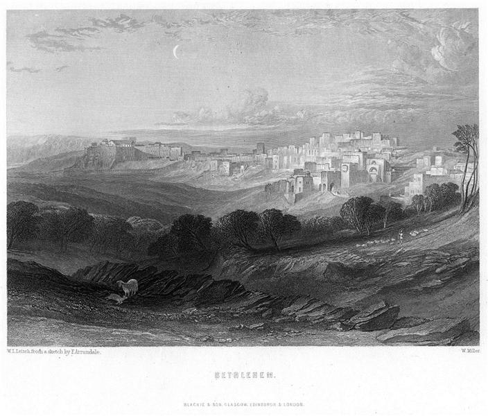 Bethlehem engraving by William Miller after Leitch, 1866 - William Leighton Leitch