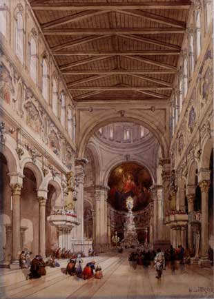Interior of the Cathedral, Messina, 1839 - William Leighton Leitch