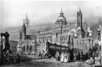 Palermo cathedral, drawing by Leitch, engraving by J.H. Le Keux - Вільям Лейтон Лейтч