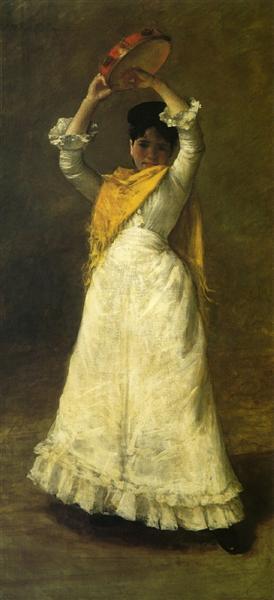 A Madrid Dancing Girl, 1886 - Уильям Меррит Чейз