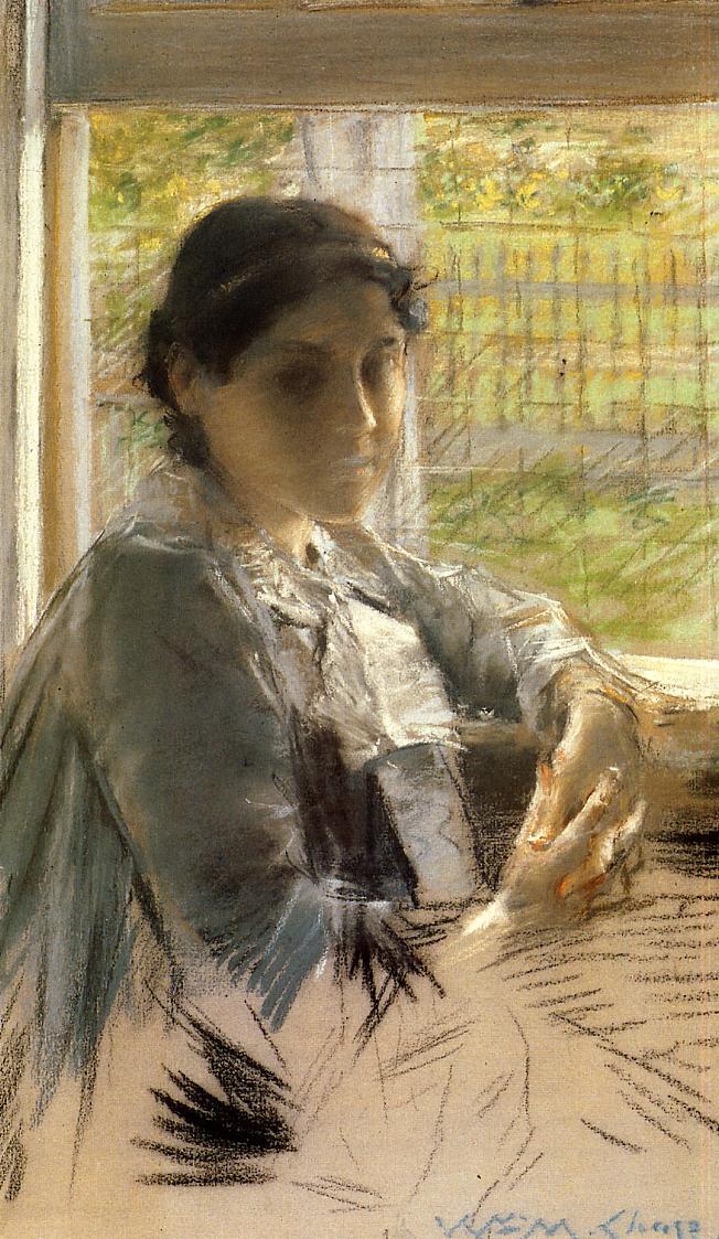 At The Window William Merritt Chase Wikiart Org