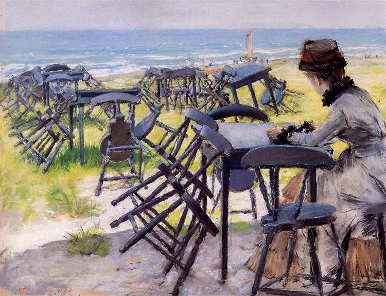 End of the season Sun, 1884 - William Merritt Chase