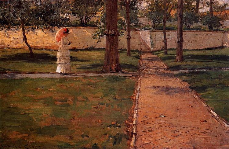 In Brooklyn Navy Yard, 1887 - William Merritt Chase